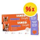 IAMS Delights Wet Cat Food Multibuy 96 x 85g