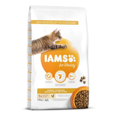 IAMS for Vitality Adult Hairball с курицей
