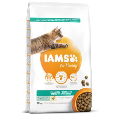 IAMS for Vitality Adult Sterilised Fresh Chicken Dry Cat Food
