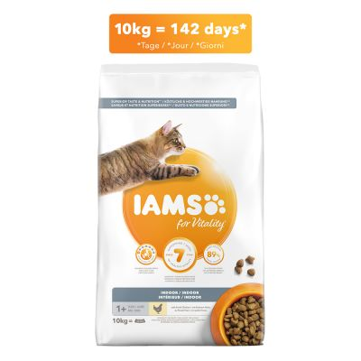 IAMS for Vitality Cat Adult Indoor с курицей
