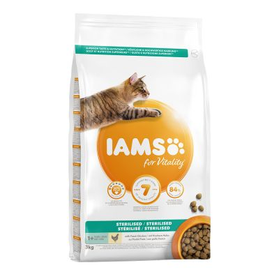 IAMS for Vitality Cat Adult Sterilised с курицей