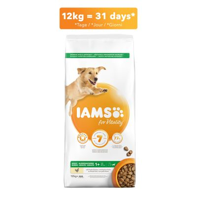 IAMS for Vitality Dog Adult Large Kip Hondenvoer