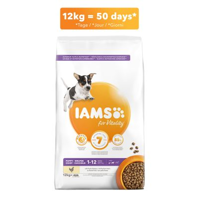 IAMS for Vitality Dog Puppy & Junior Small / Medium Kip Hondenvoer