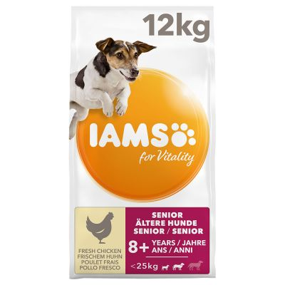 IAMS for Vitality Dog Senior & Mature Small Medium Kip Hondenvoer