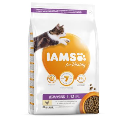 IAMS for Vitality Kitten con pollo fresco