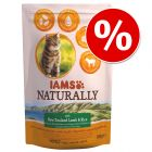 IAMS Naturally Cat Adult -säästöpakkaus 2 x 2,7 kg