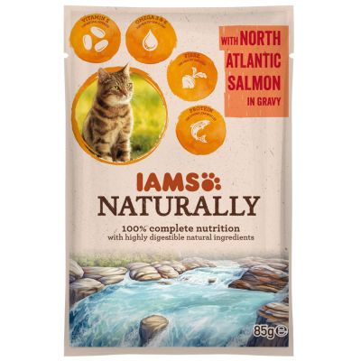 IAMS Naturally Cat Adult Zalm Kattenvoer
