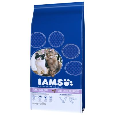 IAMS Pro Active Health Adult Multi-Cat Household pour chat