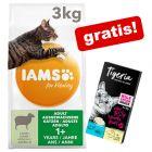 IAMS Tørrfôr +  Tigeria Cream snacks med joghurt & ost gratis!