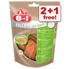 8in1 Delights Fillets Pro Dog Snacks - 2 + 1 Free!*