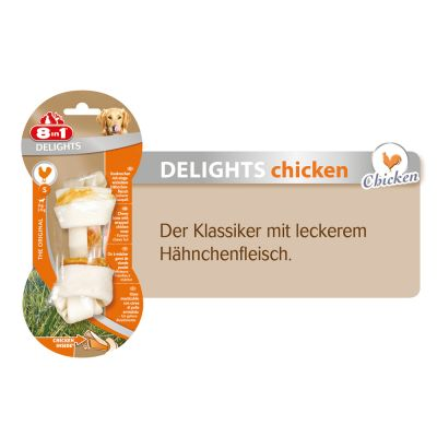 8in1 Delights Kauknochen Huhn, L