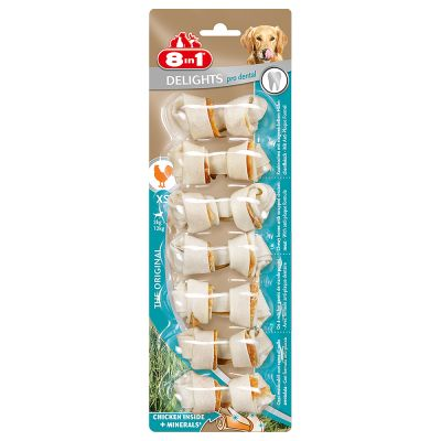 8in1 Delights Pro Dental Chew Bones
