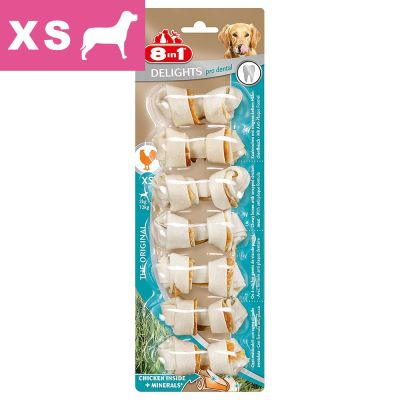 8in1 Dental Delights tyggeben, XS