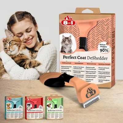 8in1 Perfect Coat DeShedder for Cats