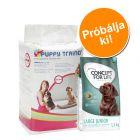 Induló csomag kölyköknek: Savic Puppy Trainer betétek + 1,5 kg Concept for Life Junior