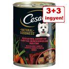 3 + 3 ingyen! 6 x 400 g Cesar Natural Goodness