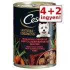 4 + 2 ingyen! 6 x 400 g Cesar Natural Goodness