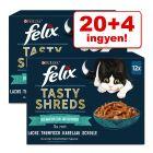"20+4 ingyen! 24 x 80 g Felix ""Tasty Shreds"" tasakos"