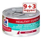 9+3 ingyen! 12 x 79 g Hill's Science Plan Adult Healthy Cuisine