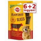6 + 2 ingyen! 8 x 60 g Pedigree Ranchos Slices kutyasnack