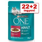 22+2 ingyen! 24 x 85 g Purina One