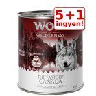"5 + 1 ingyen! 6 x 800 g Wolf of Wilderness ""The Taste Of"""