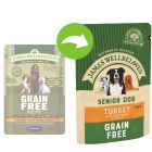 James Wellbeloved Senior Grain Free Pouches - Turkey with Vegetables