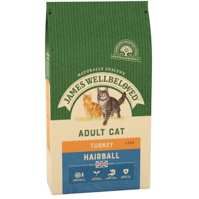 James Wellbeloved Adult Cat Hairball Turkey & Rice