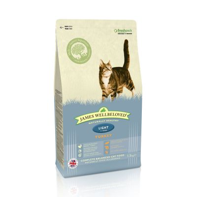 James Wellbeloved Adult Cat Light - Kalkoen Kattenvoer