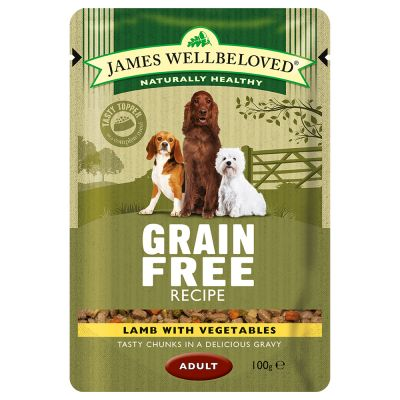 James Wellbeloved Adult Grain Free Pouches - Lamb with Vegetables