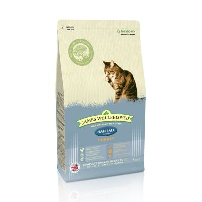 James Wellbeloved Adult Hairball Pavo y arroz