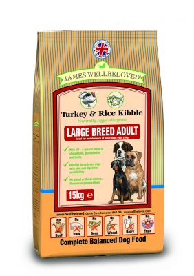 James Wellbeloved Adult Large Breed - Kalkoen & Rijst Hond