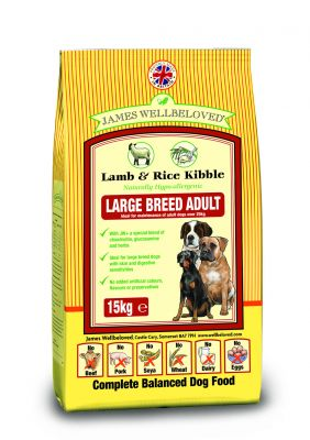 James Wellbeloved Adult Large Breed - Lam & Rijst Hondenvoer