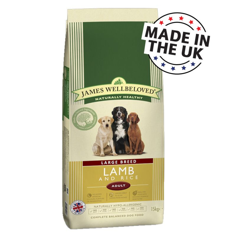 James Wellbeloved Adult Large Breed - Lamb & Rice