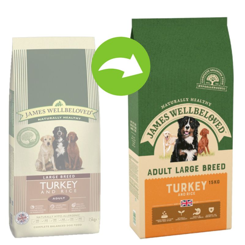 James Wellbeloved Adult Large Breed - Turkey & Rice