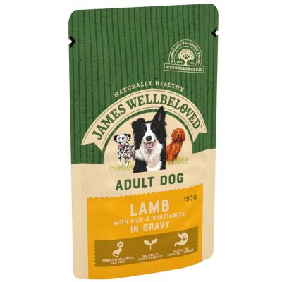 James Wellbeloved Adult Pouches - Lamb & Rice