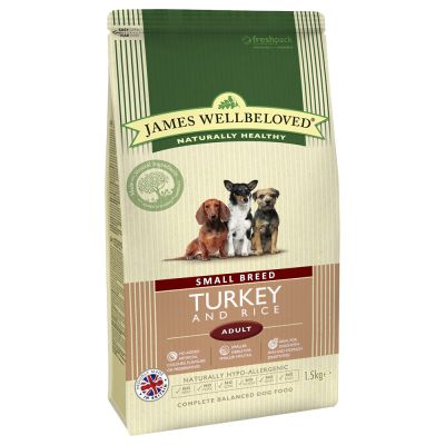 James Wellbeloved Adult Small Breed Tacchino & Riso