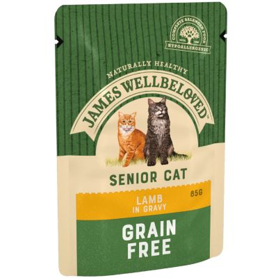 James Wellbeloved Cat Senior Pouches - Lamb