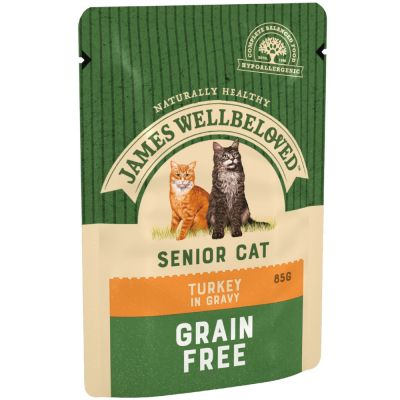 James Wellbeloved Cat Senior Pouches - Turkey