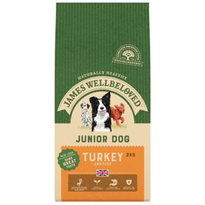 James Wellbeloved Junior dinde, riz pour chien
