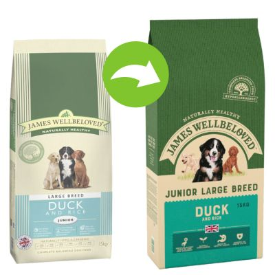 James Wellbeloved Junior Large Breed - Duck & Rice