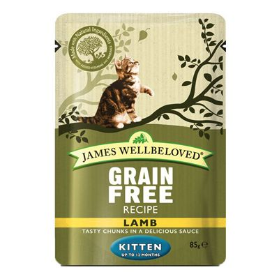 James Wellbeloved Kitten Pouches - Lamb