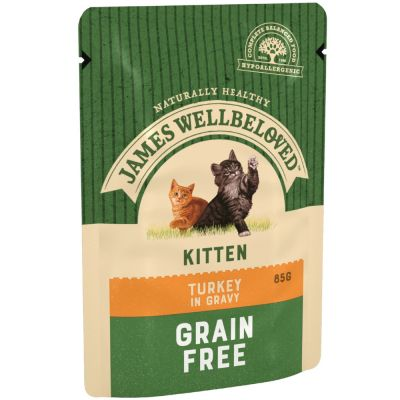 James Wellbeloved Kitten Pouches - Turkey