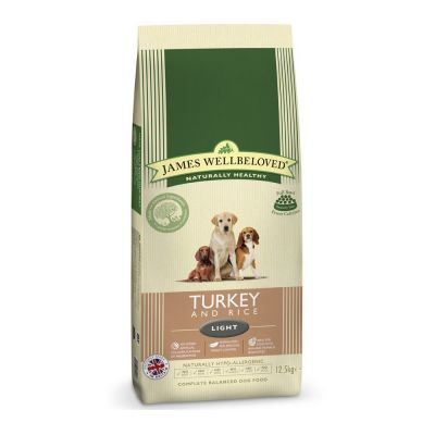 James Wellbeloved Light dinde, riz pour chien
