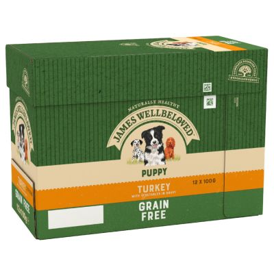James Wellbeloved Puppy & Junior Grain Free Pouches - Turkey & Vegetables