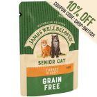 James Wellbeloved Senior Cat Pouches - Turkey