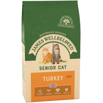 James Wellbeloved Senior dinde, riz pour chat