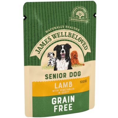 James Wellbeloved Senior Grain Free Pouches - Lamb with Vegetables