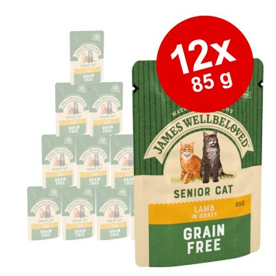 James Wellbeloved Senior Maaltijdzakjes Kattenvoer 12 x 85 g
