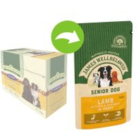 James Wellbeloved Senior Pouches – Lamb with Rice
